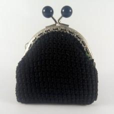 Σίλβα Μαύρο - Πλεκτό Πορτοφόλι